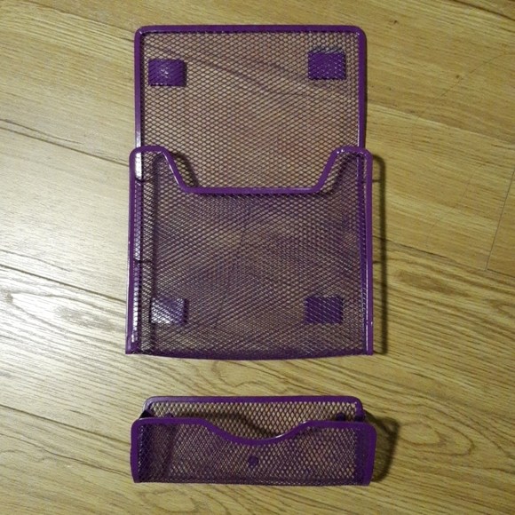 Magnetic Locker Book and Pencil Holders. Purple
